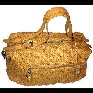 Cole Han Quilted Leather Satchel